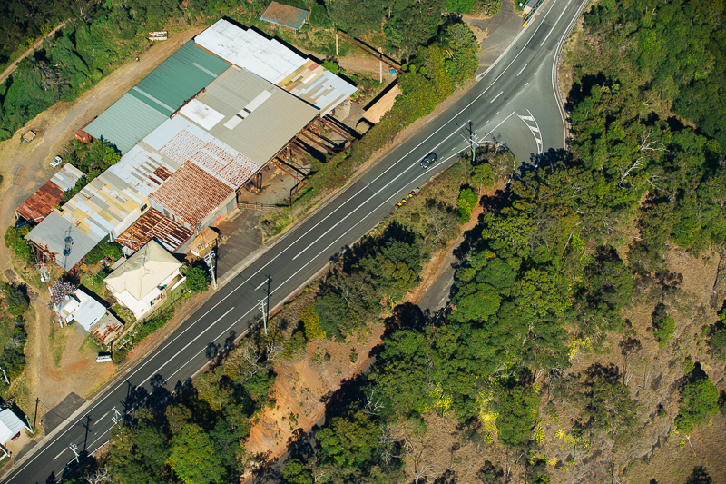 Heading in to Maleney - Aerial View